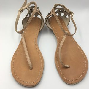 Seychelles tan leather strappy sandals sz 8